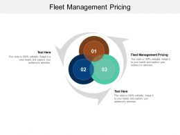 Fleet Management Pricing Ppt Powerpoint Presentation Model Influencers Cpb