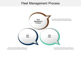 Fleet Management Process Ppt Powerpoint Presentation Infographic Template Templates Cpb
