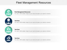 Fleet Management Resources Ppt Powerpoint Presentation Summary Examples Cpb