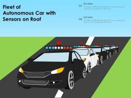 Fleet Of Autonomous Car With Sensors On Roof