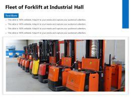 Fleet Of Forklift At Industrial Hall