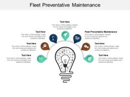 Fleet Preventative Maintenance Ppt Powerpoint Presentation Gallery Graphics Cpb