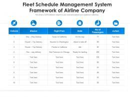 Fleet Schedule Management System Framework Of Airline Company