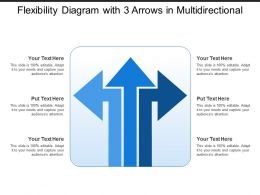 Flexibility Diagram With 3 Arrows In Multidirectional