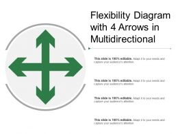 Flexibility Diagram With 4 Arrows In Multidirectional