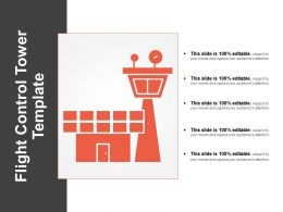 Flight Control Tower Template Powerpoint Presentation
