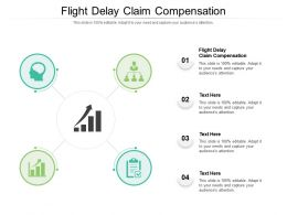 Flight Delay Claim Compensation Ppt Powerpoint Presentation Outline Clipart Cpb
