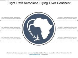 Flight Path Aeroplane Flying Over Continent
