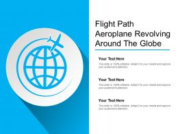 Flight Path Aeroplane Revolving Around The Globe