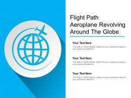 Flight Path Aeroplane Revolving Around The Globe