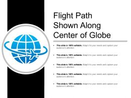 Flight Path Shown Along Center Of Globe