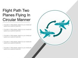 Flight Path Two Planes Flying In Circular Manner