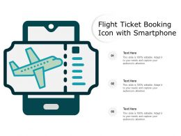 Flight Ticket Booking Icon With Smartphone