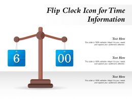 Flip Clock Icon For Time Information