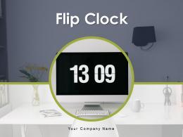 Flip Clock Information Furniture Countdown Indicating