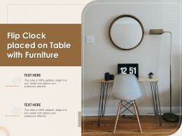 Flip Clock Placed On Table With Furniture
