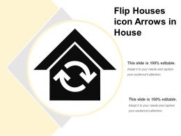 Flip Houses Icon Arrows In House