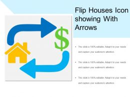 Flip Houses Icon Of House With Dollar
