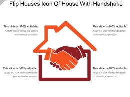 Flip Houses Icon Of House With Handshake