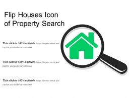 Flip Houses Icon Of Property Search