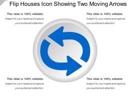 Flip Houses Icon Showing Two Moving Arrows