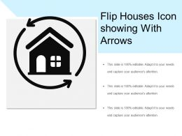 Flip Houses Icon Showing With Arrows