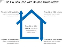 Flip Houses Icon With Up And Down Arrow