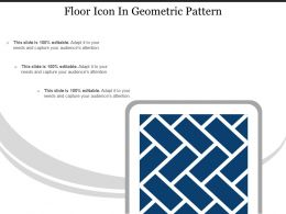 Floor Icon In Geometric Pattern
