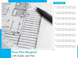 Floor Plan Blueprint With Scale And Pen