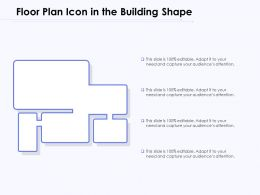 Floor Plan Icon In The Building Shape
