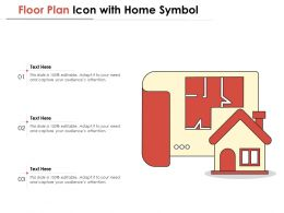 Floor Plan Icon With Home Symbol