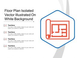 Floor Plan Isolated Vector Illustrated On White Background