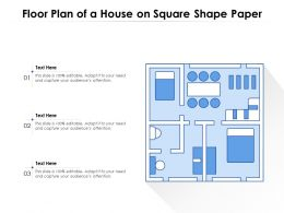 Floor Plan Of A House On Square Shape Paper