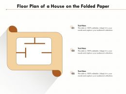 Floor Plan Of A House On The Folded Paper