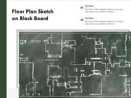 Floor Plan Sketch On Black Board