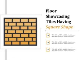 Floor Showcasing Tiles Having Square Shape