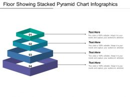 Floor Showing Stacked Pyramid Chart Infographics