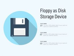Floppy As Disk Storage Device