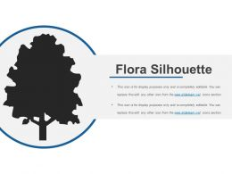 Flora Silhouette Sample Ppt Files