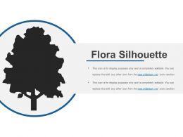 Flora Silhouette Sample PPT Files