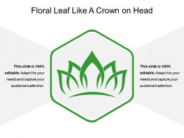 Floral Leaf Like A Crown On Head