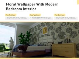 Floral Wallpaper With Modern Bedroom Interior