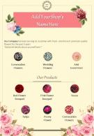 Florist Business Two Page Brochure Template