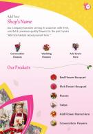 Florist Marketing Two Page Brochure Template