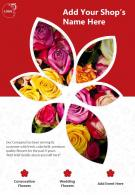 Florist Promotions Two Page Brochure Flyer Template