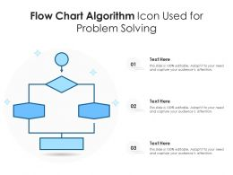 Flow Chart Algorithm Icon Used For Problem Solving