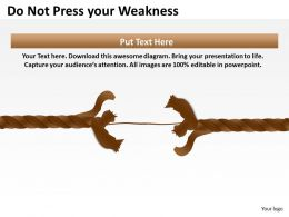 Flow Chart Business Do Not Press Your Weakness Powerpoint Templates PPT Backgrounds For Slides 0515