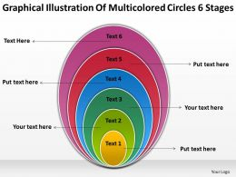 Flow Chart Business Multicolored Circles 6 Stages Powerpoint Templates PPT Backgrounds For Slides