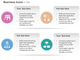 Flow Chart Financial Data Banking Network Process Flow Ppt Icons Graphics
