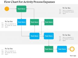 Flow Chart For Activity Process Expanses Flat Powerpoint Design